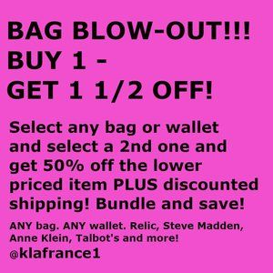 BAG BLOW-OUT!
